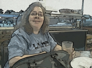 Photo of Marla that was edited with the Paper Camera Android App